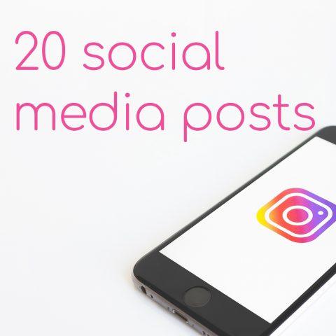 20 Social Media Posts