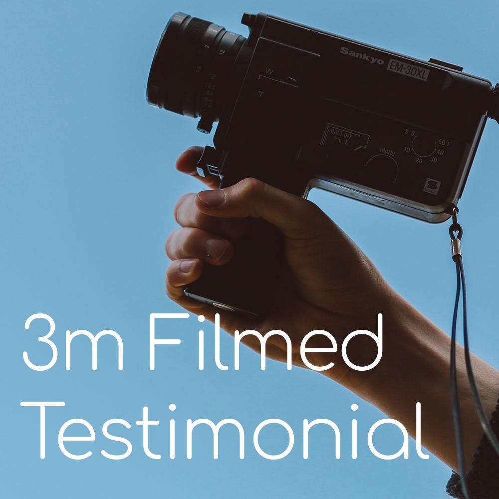 3 Minute Filmed Client Testimonial